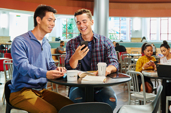 Students in Campus Dining Hall