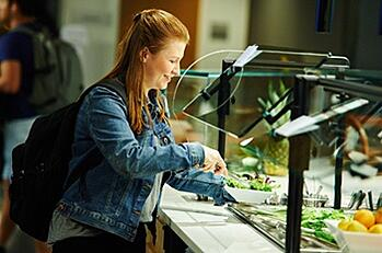 Female Student at Salad Bar