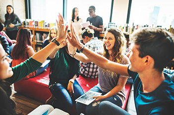 Students in Common Area