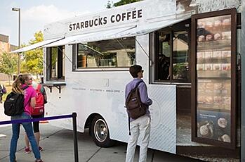 Students at Starbucks Food Truck