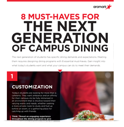 Infographic: 8 Must-Haves for the Next Generation of Campus Dining