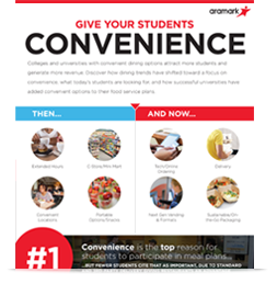 Give Your Students Convenience Infographic