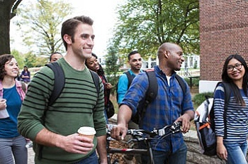 Students on College Campus