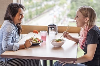 two students eating lunch