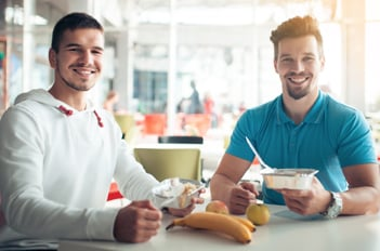 two students eating