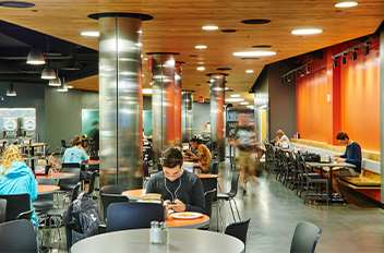 dining area on campus