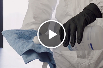 cleaning solution and cloth