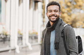 student smiling