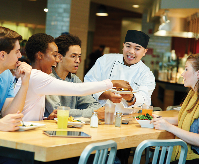 Students and Chef